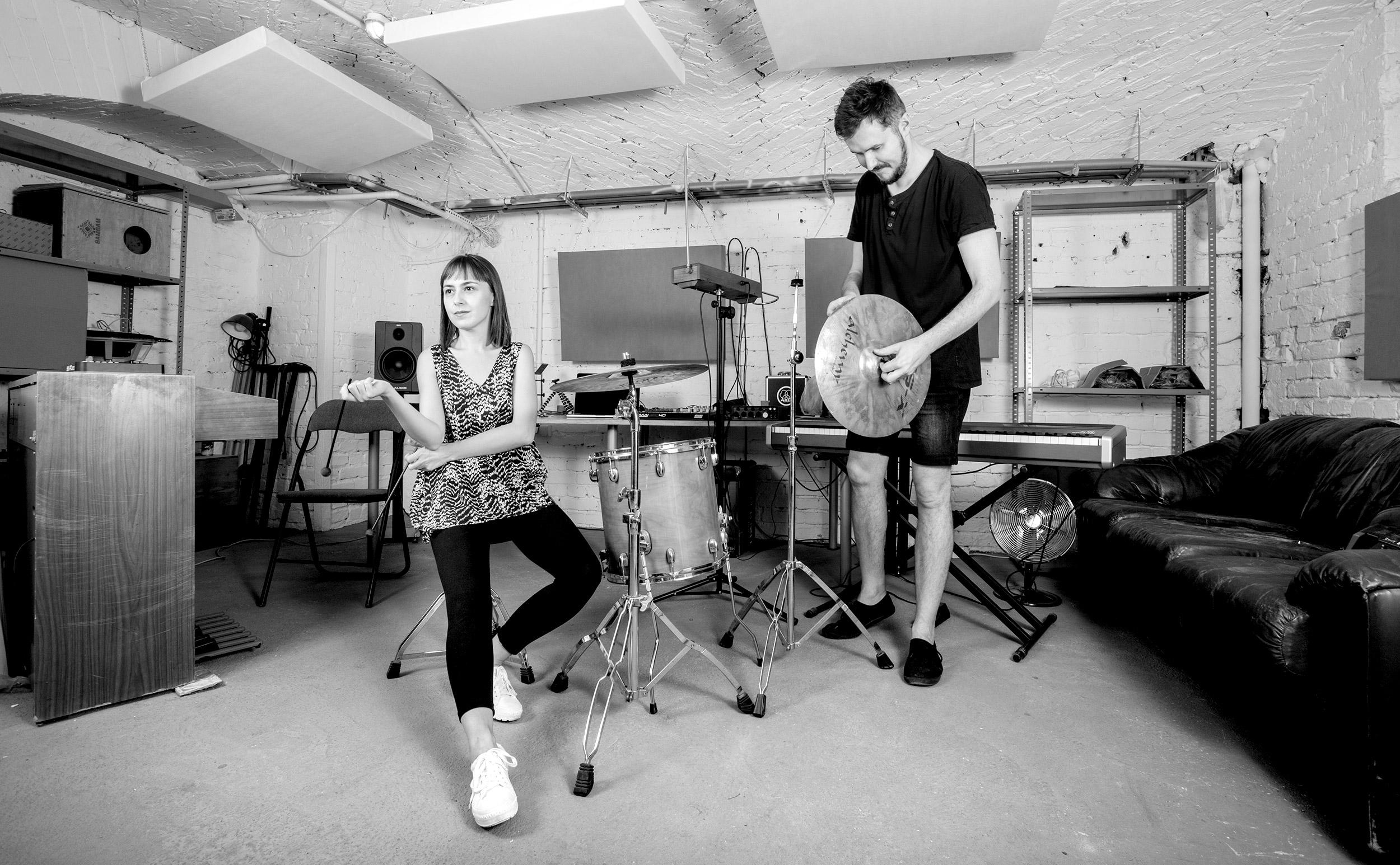 Ewa Doroszenko and Jacek Doroszenko at the studio