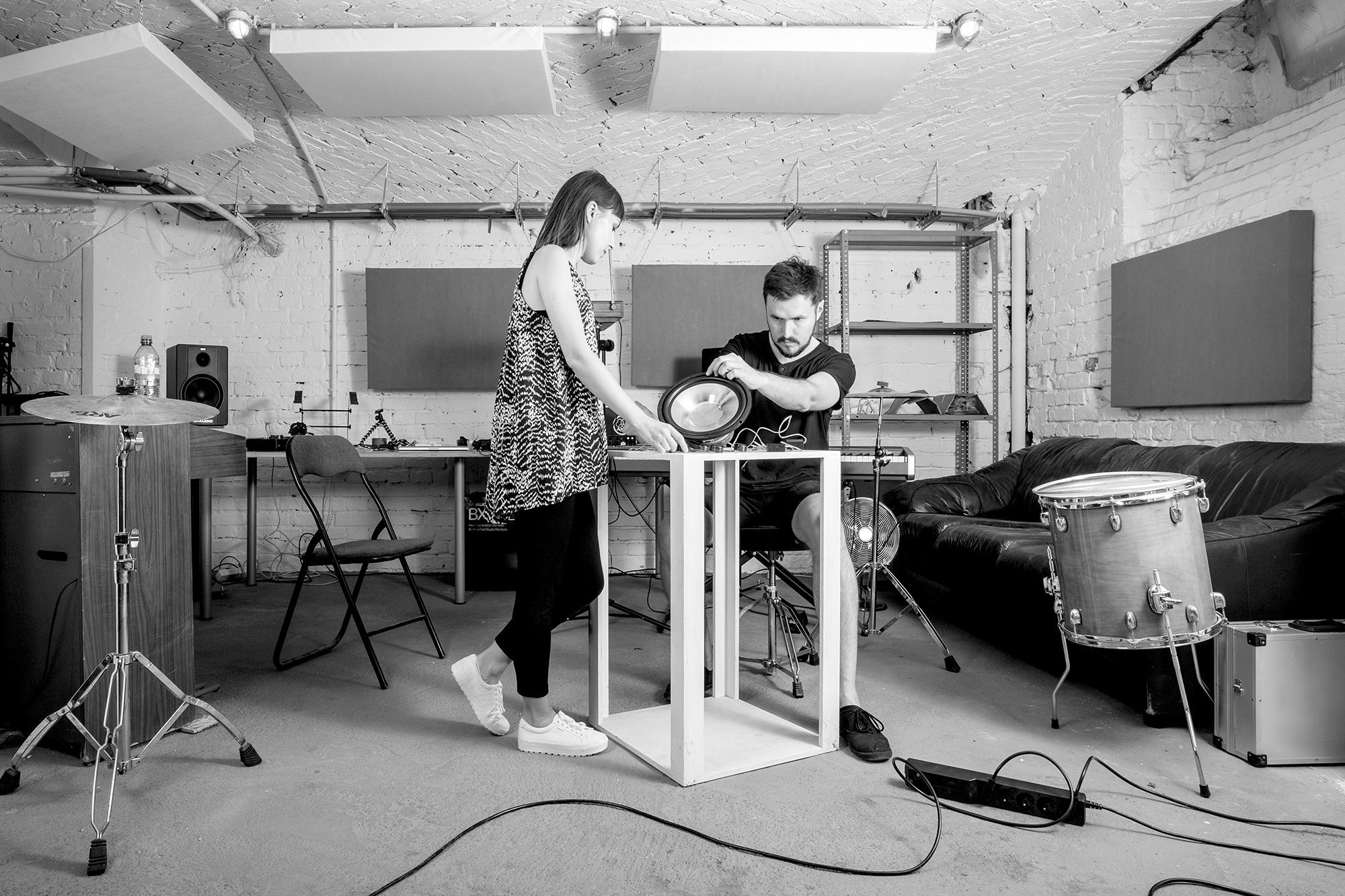 Ewa Doroszenko and Jacek Doroszenko at the studio, Propaganda, Warsaw Gallery Weekend