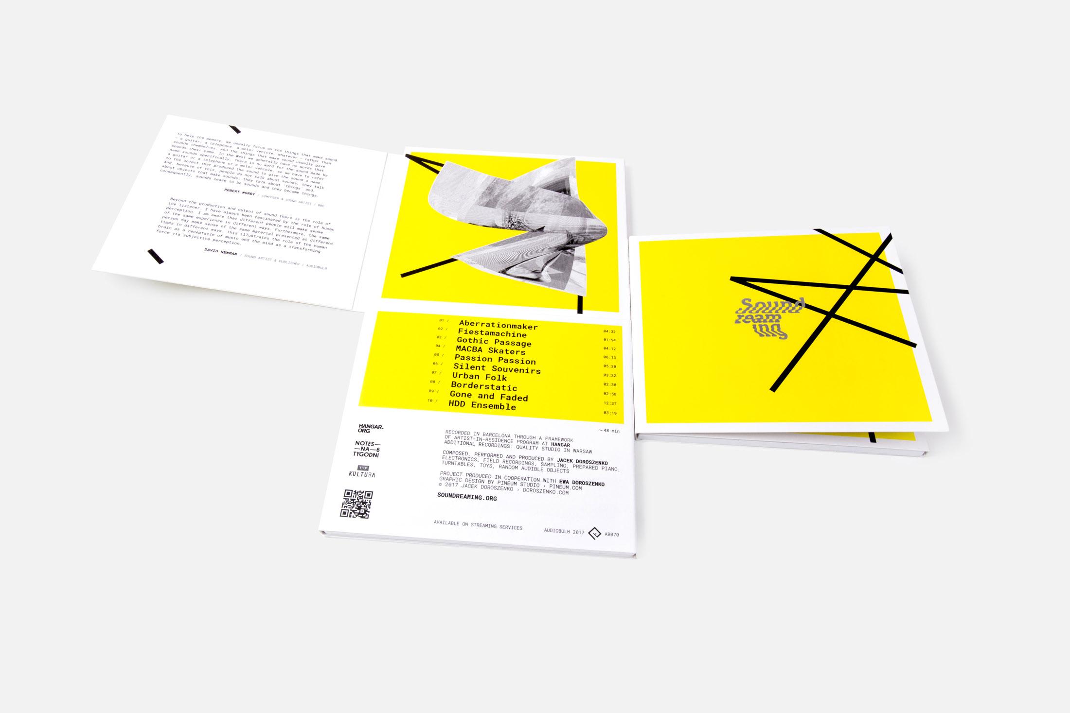Jacek Doroszenko - Soundreaming album, Audiobulb 2017 - digipak 05